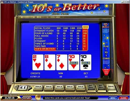 オンラインカジノのビデオポーカーについて